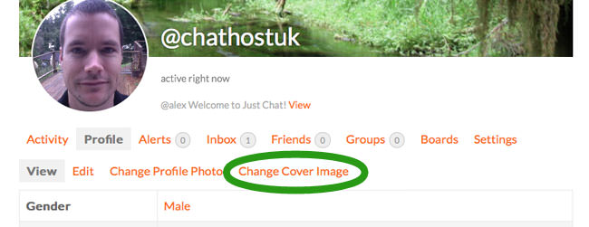 how to upload cover photo