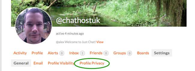 edit profile privacy